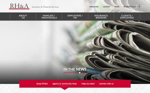 Screenshot of Press Page hensleyassociates.com - agency & community news - Robert Hensley and Associates - captured Dec. 1, 2016