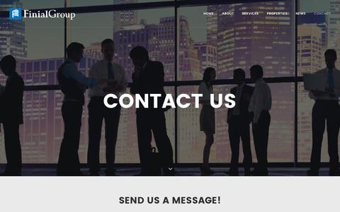 Screenshot of Contact Page finialgroup.com - Contact   Finial Group - captured Aug. 3, 2016