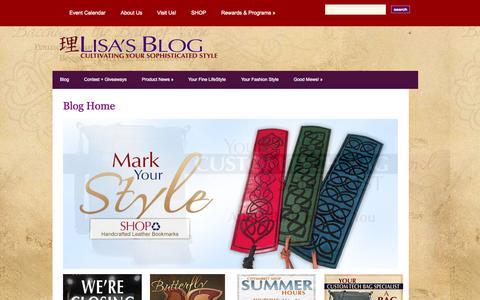 Screenshot of Blog lisa-stewart.com - Lisa's Blog | Cultivate Your Elegant Style - captured Oct. 10, 2015