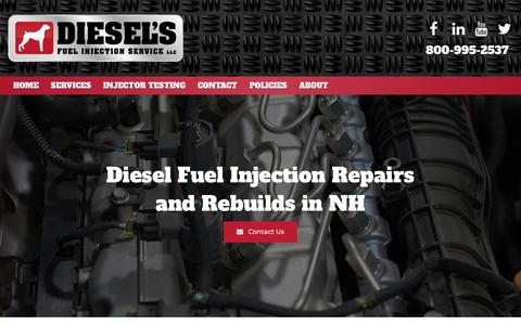 Screenshot of Services Page dieselsfuelinjection.com - Diesel Fuel Injector Repairs & Rebuilds | Concord, Bow, Hooksett - captured Nov. 14, 2018