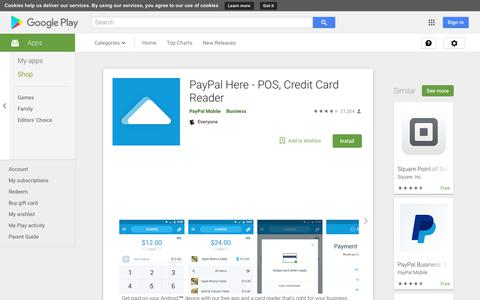 PayPal Here - POS, Credit Card Reader - Apps on Google Play
