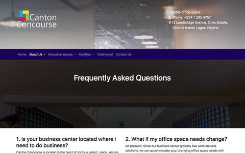 Screenshot of FAQ Page cantonconcourse.com - FAQ | Canton - captured July 15, 2018