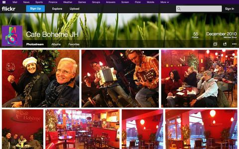 Screenshot of Flickr Page flickr.com - Flickr: Cafe Boheme JH's Photostream - captured Oct. 27, 2014