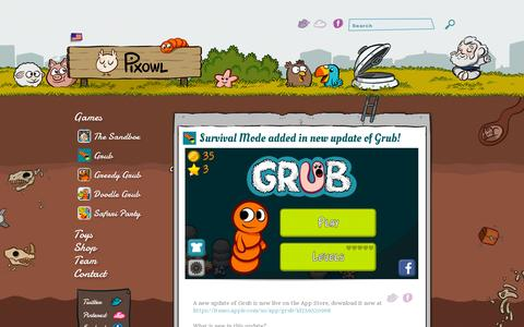 Screenshot of Home Page pixowl.com - Pixowl – Mobile Games Studio - captured July 11, 2014