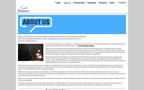 Screenshot of About Page elexonmining.com - About Us - Elexon - captured Sept. 29, 2014
