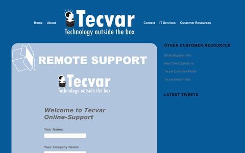 Screenshot of Support Page tecvar.com - IT Support   Tecvar - captured Dec. 1, 2016