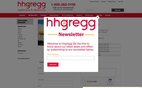 Screenshot of Contact Page Locations Page hhgregg.com - Contact hhgregg in New Jersey - captured Jan. 31, 2018