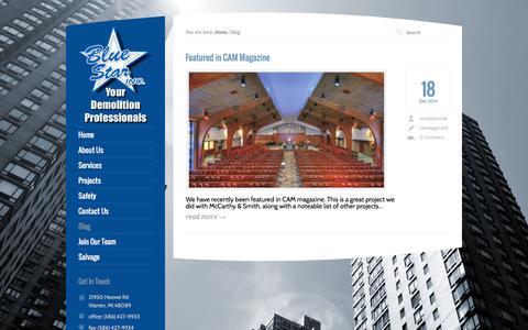 Screenshot of Blog bluestardemo.com - Blog   BlueStar - captured Feb. 7, 2016