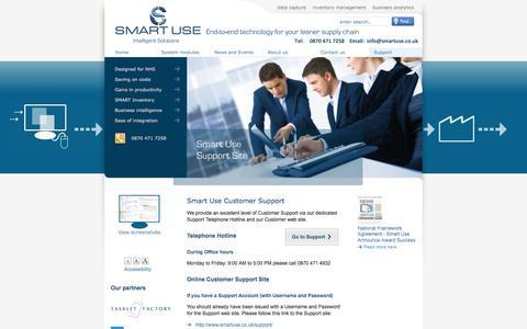 Screenshot of Support Page smartuse.co.uk - Smart Use Ltd - Support - captured Nov. 5, 2014