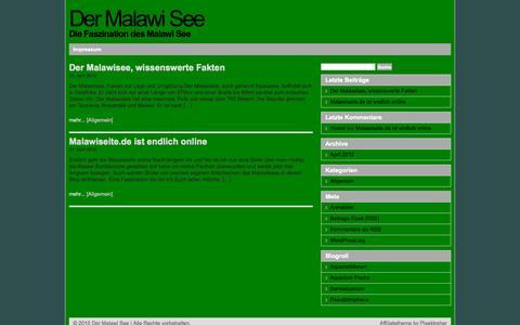 Screenshot of Home Page malawiseite.de - Der Malawi See|Die Faszination des Malawi See - captured Sept. 19, 2015