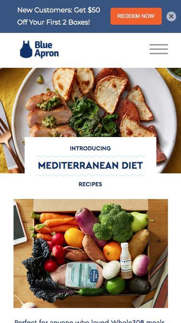 Blue Apron x Mediterranean Diet