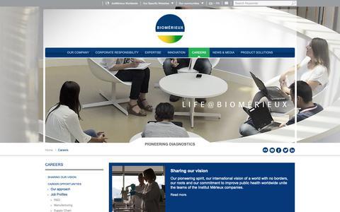 Screenshot of Jobs Page biomerieux.com - Careers | bioMérieux Corporate Website - captured Nov. 6, 2018