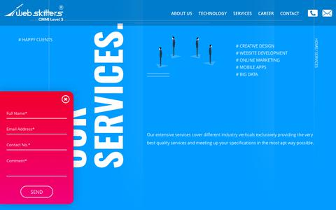 Screenshot of Services Page webskitters.com - Webskitters Offers a Range of IT Services With Their Team - captured Oct. 3, 2018