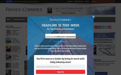 Screenshot of Home Page finance-commerce.com - Finance & Commerce - captured April 18, 2017