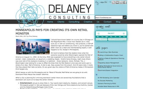 Screenshot of Blog floradelaney.com - Blog   Delaney Consulting and Creative - captured Oct. 12, 2017