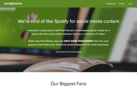 Screenshot of postplanner.com - Media Kit - Post Planner - captured Dec. 7, 2016