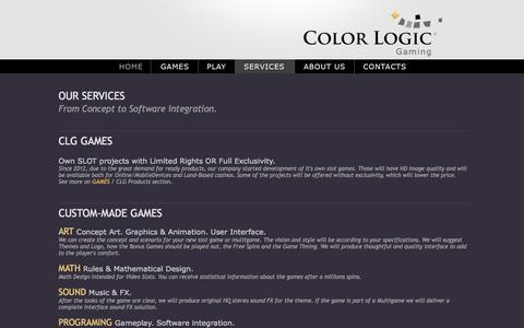 Screenshot of Services Page color-logic.eu - COLOR LOGIC GAMING - captured Oct. 3, 2014