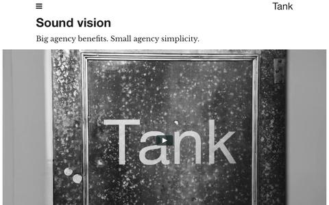 Screenshot of About Page tankdesign.com - About Tank Design - captured Aug. 19, 2016