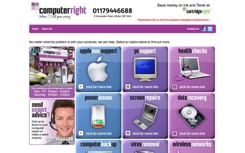Screenshot of Services Page computerright.co.uk - Computer Right - Services - captured Dec. 10, 2015