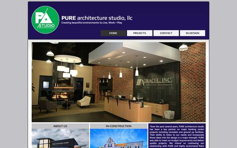 Screenshot of Home Page pure-arch.com - Pure Architecture Studio LLC - captured Oct. 24, 2018