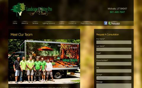 Screenshot of Team Page utahlights.com - Our Team   Landscape Lighting Salt Lake City Park City Utah - captured Dec. 11, 2015