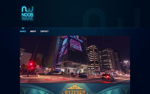 Screenshot of Home Page noobware.net - Noobware - Game Development - Advergaming, Gamification & Mobile Games - captured Sept. 30, 2014
