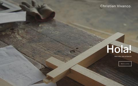 Screenshot of Home Page christianvivanco.com - Christian Vivanco. - captured Jan. 28, 2016