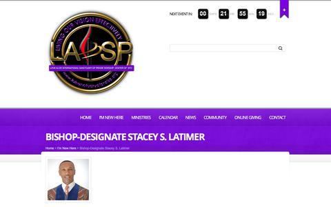 Screenshot of Team Page laisanctuaryofpraise.org - Bishop-Designate Stacey S. Latimer - LAI Sanctuary of Praise - captured Dec. 5, 2015