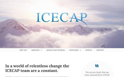 Screenshot of Home Page icecapltd.com - ICECAP | Corporate and Alternative Asset Administration Services - captured Nov. 11, 2018