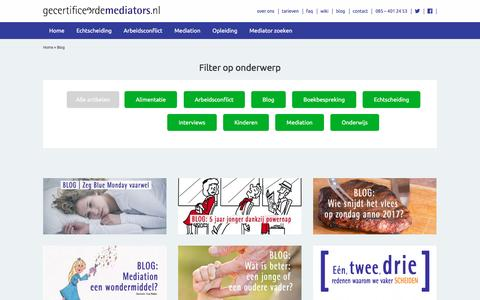 Screenshot of Blog gecertificeerdemediators.nl - Overzicht van alle blogs op gecertificeerdemediators.nl - captured May 15, 2017