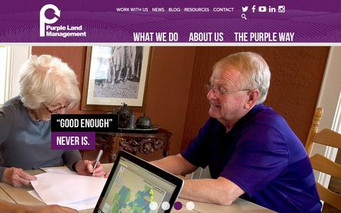 Screenshot of Home Page purplelandmgmt.com - Home - Purple Land Management - captured Dec. 8, 2015