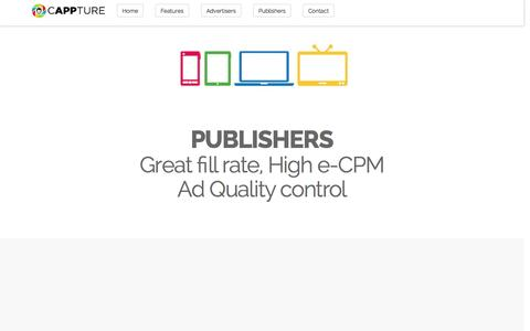 Screenshot of Pricing Page cappture.com - Cappture - Programmatic Media Trading Platform - captured June 16, 2015