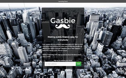 Screenshot of Signup Page gasbie.com - Gasbie - Making public finance easy for everybody - captured Oct. 2, 2014