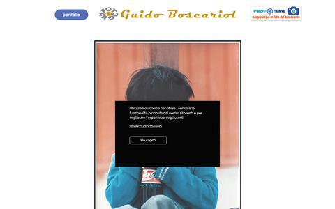 Screenshot of Home Page studioboscariol.it - Pubblicità | Genova | Guido Boscariol Fotografo - captured Sept. 30, 2018