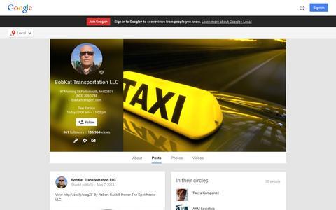 Screenshot of Google Plus Page google.com - BobKat Transportation LLC - Google+ - captured Oct. 23, 2014