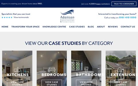 Screenshot of Case Studies Page adamsons.co.uk - Case Study - Adamson Construction & Interiors - captured Oct. 3, 2018