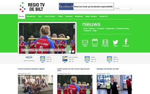 Screenshot of Home Page regiotvdebilt.nl - Nieuws - Regio TV De Bilt - captured Oct. 1, 2014