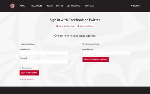 Screenshot of Login Page nationbuilder.com - Sign in - captured May 20, 2016