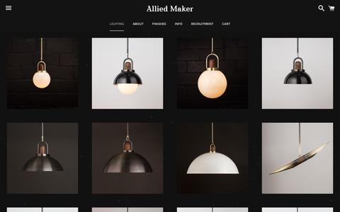 Screenshot of Products Page alliedmaker.com - Products – Allied Maker - captured March 16, 2016