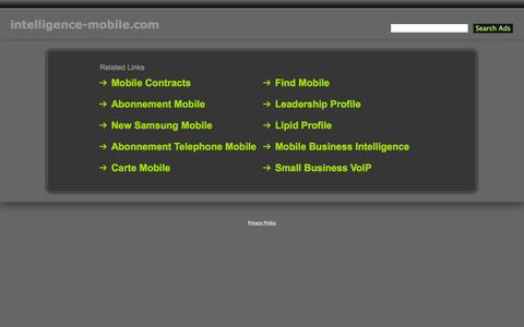 Screenshot of Home Page intelligence-mobile.com - Intelligence-Mobile.com - captured Oct. 6, 2014