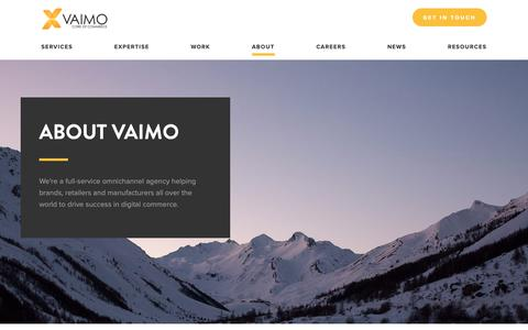 Screenshot of About Page vaimo.com - Experts in Digital Commerce & Full-Service Omnichannel Agency - Vaimo - captured April 20, 2019
