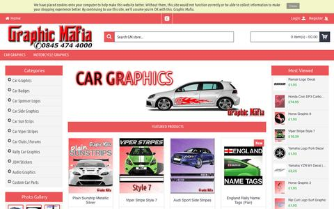 Screenshot of Home Page graphic-mafia.co.uk - Car Stickers | Vehicle Graphics, Custom Vinyl Lettering, Van Lettering online - captured June 7, 2016