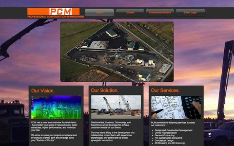 Screenshot of About Page pcmco.us - Professional Construction Management - captured Oct. 1, 2014