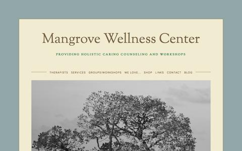 Screenshot of Services Page mangrovewellness.com - Mangrove Wellness Center - captured Oct. 3, 2014