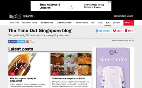 Screenshot of Blog timeout.com - The Ultimate Singapore Blog - Time Out Singapore - captured Sept. 23, 2016