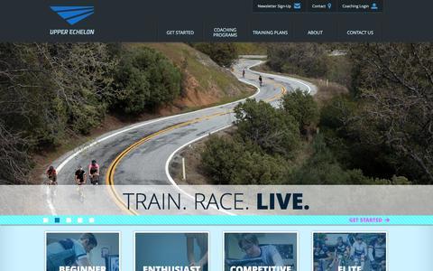 Screenshot of Home Page upperechelon.com - Upper Echelon Fitness   Train. Race. Live. - captured Feb. 16, 2016