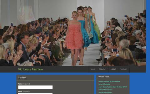 Screenshot of Contact Page viclouis.com - Contact | Vic Louis Fashion - captured Oct. 7, 2014