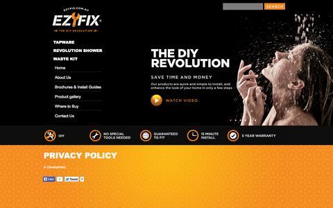 Screenshot of Privacy Page ezyfix.com.au - Privacy policy - captured Sept. 29, 2014