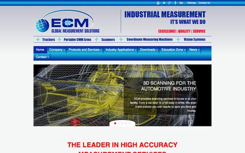 Screenshot of Home Page eastcoastmetrology.com - 3D Metrology Services | Laser Trackers | Calibration | Training Courses - captured Jan. 23, 2015