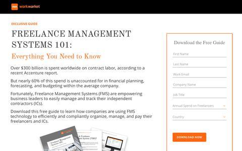 Screenshot of Landing Page workmarket.com - What is a Freelance Management System? | WorkMarket - captured Nov. 30, 2018